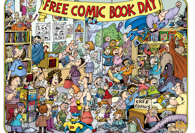 Bouncing at Free Comic Book Day